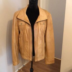 Genuine Leather Tan coat. Gently used.